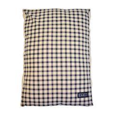 CHECKER DAWG – Yenti Design Co. Dog Cushions, Cushion Inserts, Pet Bottle, Dog Bed, Cotton Linen, Screen Printing, Pets, Fabric, Design