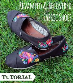 Tutorials | Urban Threads: Revamp your flat shoes by recovering them with awesome embroidered fabric.