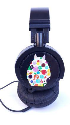 HEADPHONES MUSIC TOTORO mp3 geek ghibli miyazaki por Kutuleras