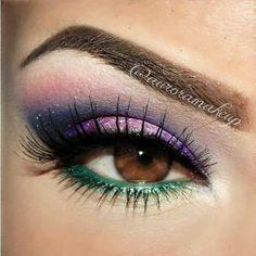 Beautiful eyeshadow for brown eyes