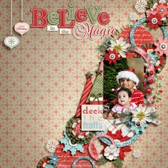 Nice List by Jady Day Studio Layered Titles: Christmas: Set 1 by Cindy Schneider Template by Sheri
