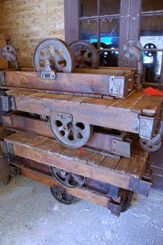 1930's industrial trolleys