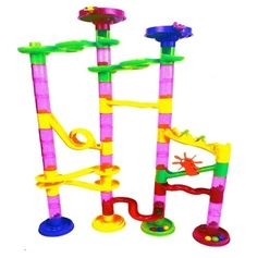 Marble Run Coaster 55 BIG Elements Kit. 40 Building Blocks+15 Plastic Marbles. This colorfully fun marble run coaster granted creative play for children and adults, Stimulating brain as kids use their creativity to erect endless designs, Transparent parts allow visually track the entire course.  #kids #toys #marblerun #gift #maze #DIY #educatioal https://www.amazon.com/gp/product/B01B4Y5NWK https://dashburst.com/michaela09/386