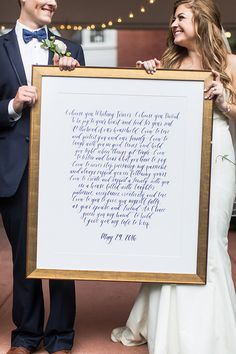 framed wedding quote