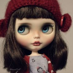 Tilia -custom ooak blythe doll, unique art doll by AlmondDoll