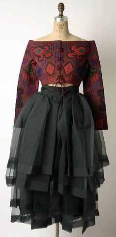 Ensemble Romeo Gigli  (Italian, born 1949) Date: ca. 1993    Felix Pick: Before Dries van Noten came Romeo Gigli  *Swoon I love !