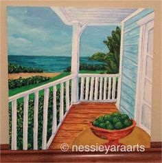 Vibrant depiction of the beauty and serenity of a tropical scene. Inspired by the infinite beauty of Florida. Key Limes compliment the scene because I think life taste fresher with a hint of lime in it.   Title (The Work): A hint of lime  Limited Edition Print (2017) (#/175)  Print Size: 8x10 (*item will be shipped unframed on a 11x14 mat)  Original Medium: acrylic on board (8x8-2013)  Artist bio / certificate of authenticity included   Artists Statement:  ...Life in the tropics giv...