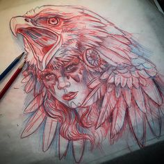 Eagle headdress girl up for grabs,,,, stay tuned for a few more,, I'll be sending emails back throughout the weekend @art_motive @worldofpencils