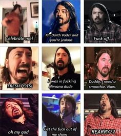 Many faces of Dave Grohl