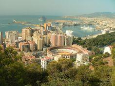 Skyline in Malaga Spain. Hopefully someday....