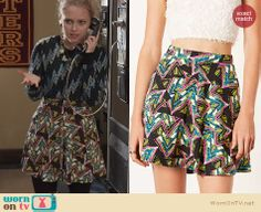 Carrie's zig zag patterned skirt on The Carrie Diaries. Outfit Details: http://wornontv.net/24702 #TheCarrieDiaries #fashion