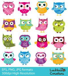 He encontrado este interesante anuncio de Etsy en https://www.etsy.com/mx/listing/194226185/simple-owls-digital-clip-art-instant