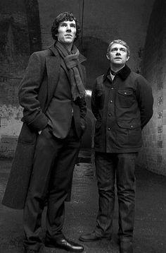 Sherlock Holmes and John Watson. Sherlock Bbc, Benedict Sherlock, Sherlock Fandom, Benedict Cumberbatch Sherlock, Sherlock Quotes, Sherlock Holmes Watson, Funny Sherlock, Jim Moriarty, Martin Freeman