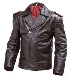 WW2 German Leather U Boat Kriegsmarine jacket BROWN - Panzer wrap style - WW2 German leather coats