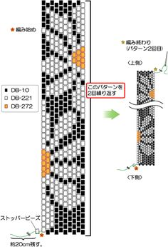 Even Peyote flower pattern for bracelet