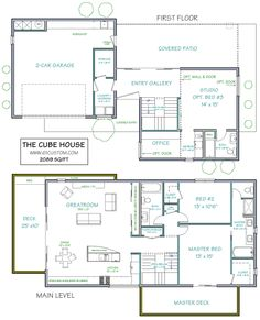 the cube house - ultra modern | floor plans for simmies. | Pinterest | Cube,  House and Modern