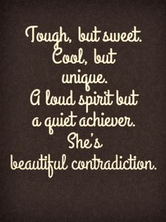 A beautiful contradiction...