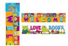horizontal classroom banner, 2 designs per case Case of 48