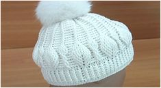 Crochet 3D Beanie Hat Leaf Stitch