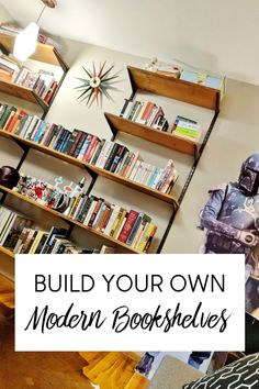 Build Your Own Mid-century Modern Shelving Unit