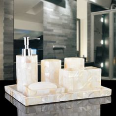 Cheap toothbrush holder, Buy Quality bathroom set directly from China bathroom set wash Suppliers: Banheiro Toothbrush Holder Make Life Wash Bathroom Set Suit European Mediterranean Five Piece Tray With High-end Toiletries