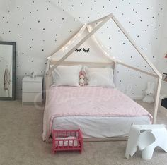 Frame bed FULL/ DOUBLE house bed bed house Montessori