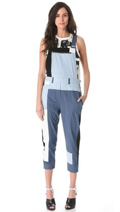 992f7baa06 3.1 Phillip Lim Cut-Up Chambray Overalls Overalls Fashion