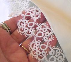 Tatted Lace Edged Pillowcases Bedroom Decor Bridal by LaceAmour