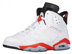 factory price dbbb8 a293a Buy Genuine Youth Big Boys Air Jordan Big Boys Air Jordan 6 White Infrared  Black 2014 Retro 384664 123 For Sale