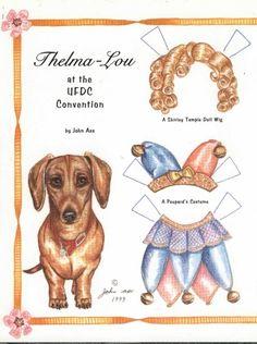 Dog paper dolls - love it!