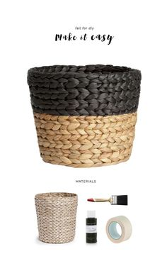 Ridiculously Easy #DIY Painted paper basket!   Find more DIY ideas on our Pinterest board: www.pinterest.com...