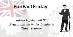 #FunFactFriday bei THE BRITISH SHOP: Jährlich gehen 80.000 Regenschirme in der Londoner Tube verloren.Bildnachweis: © ojal - www.kozzi.com; © leonido - www.kozzi.com; © kiddaikiddee - www.kozzi.com
