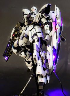 GUNDAM GUY: MG 1/100 MSN-06S Sinanju Stein - Customized Build w/ LEDs