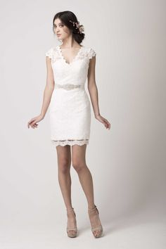 Ivory Lace Cocktail Dress Olga lace cocktail gown