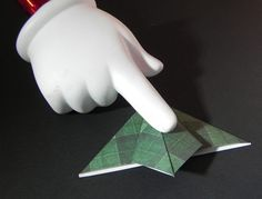 """How to Make a """"Tea Bag Fold"""" Christmas Tree – I Played With Paper Today! Origami Christmas Tree Card, Book Christmas Tree, Easy Diy Christmas Gifts, Christmas Ornament Crafts, Diy Christmas Cards, Christmas Gift Wrapping, Xmas Crafts, Christmas Ideas, Christmas Projects"""