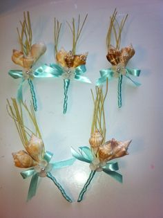 Seashell Boutonnieres/Corsages for wedding