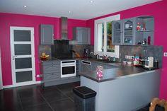 decoration cuisine rose et gris