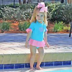 Little Girl Swimsuits, Little Girl Outfits, Toddler Outfits, Kids Outfits, Charlotte Dress, Cute Mixed Babies, Anna Dress, Girls Leotards, Rash Guard
