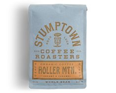 Stumptown Coffee Roasters Holler Mountain Whole Bean Organic Coffee, 12 Ounce Bag, Flavor Notes of Creamy Caramel - Food Coffee Packaging, Coffee Branding, Bottle Packaging, Organic Packaging, Chocolate Packaging, Beverage Packaging, Food Packaging, Mockup Design, Design Packaging
