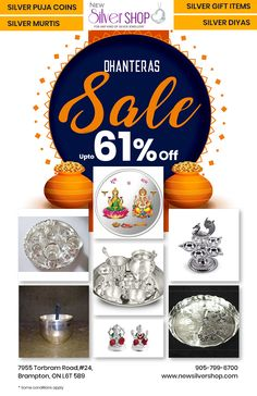 Don't Miss our Dhanteras Sale Visit New Silver Shop today located at: 7955 Torbram Road, Brampton, Ontario Canada Jewelry Shop, Jewelry Stores, Jewelry Gifts, Silver Shop, Silver Gifts, Ontario, Sterling Silver Jewelry, Canada, Jewels