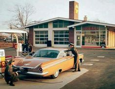 Remember when men could actually make a living at a gas station?