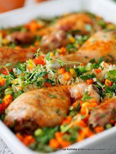palki-kurczaka-zapiekane-na-ryzu-z-warzywami Best Appetizers, Diet And Nutrition, Lunches And Dinners, Meal Planning, Dinner Recipes, Drink Recipes, Chicken Recipes, Good Food, Food And Drink