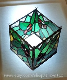 Candle Holder Of Stained Glass. Christmas NewYear. by DizArtEx