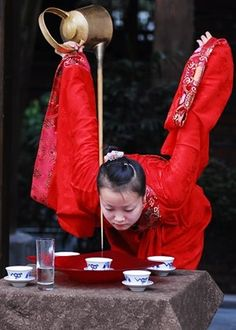 Chinese Tea pouring talent