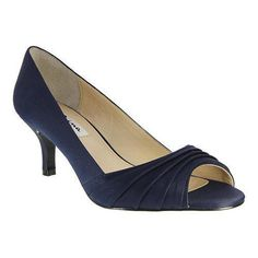 Women's Nina Carolyn Open Toe Pump New Navy Luster