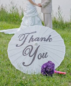 Wedding Day Thank You Parasol / Umbrella for by CreativeHYPE, $32.50