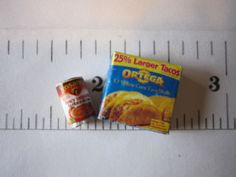 DOLLHOUSE MINIATURE FOOD/GROCERIES ~ TACOS W/BEANS