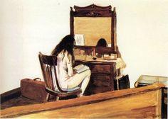 Edward Hopper, Interior (Model Reading) on ArtStack #edward-hopper #art