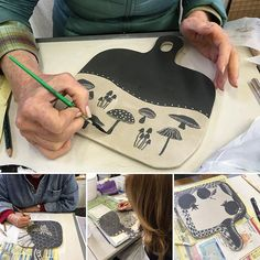 Super fun pottery workshop in Cambria, Ca, with Patricia Griffin in her studio. Even beginners can have a great time!