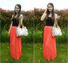 I want this red coral maxi skirt <3